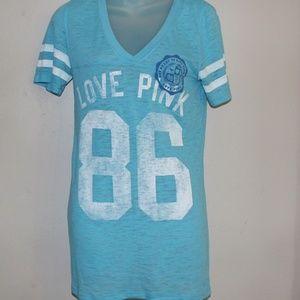 Victoria's Secret PINK Med T Shirt Aqua
